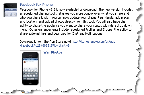 Facebook for iPhone v3.5