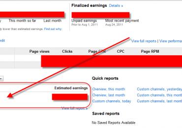 Google Adsense Update: Added Custom Channel Reporting On Dashboard