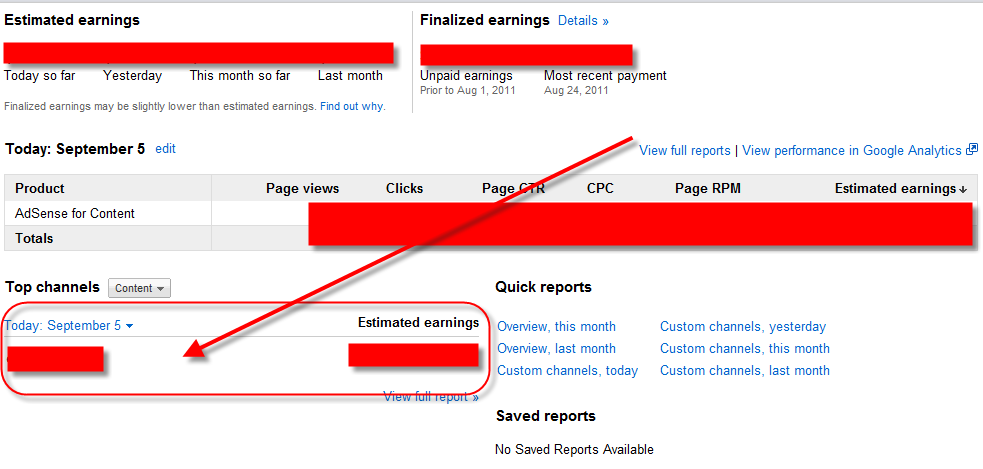 New Adsense Report