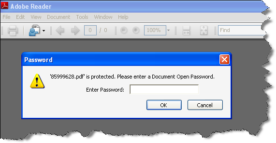 PDF File Password Protected