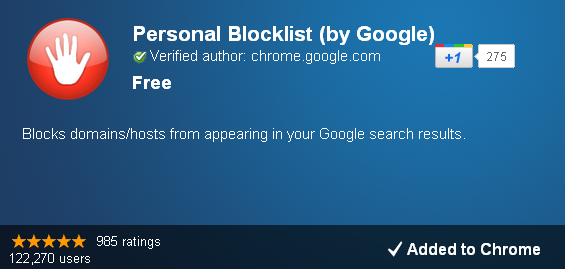 Personal Blocklist How To Block Annoying Websites With Google Chrome