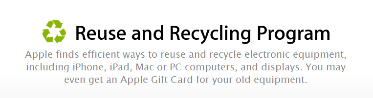 Apple Reuse And Recycling Program