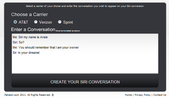 Create Your Own Siri Conversation