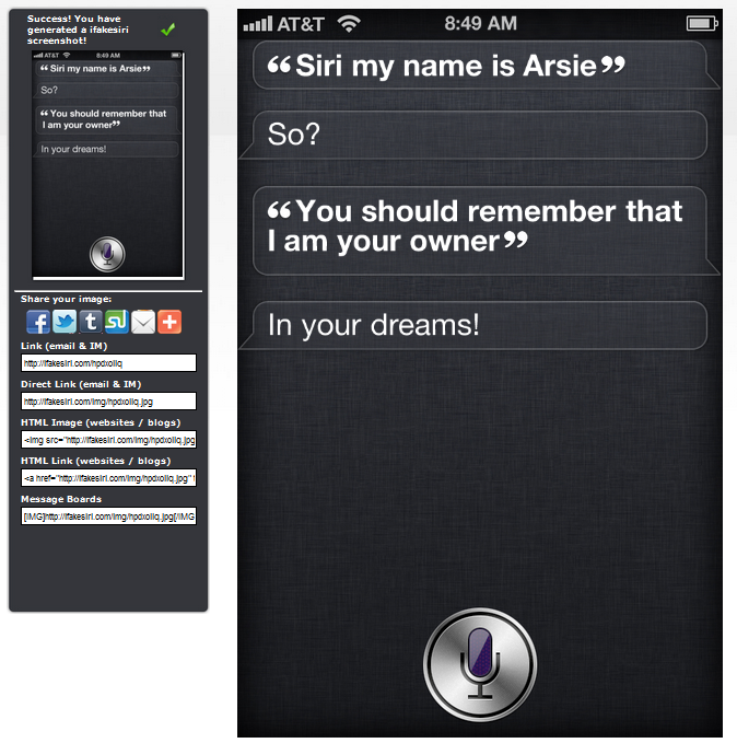 Siri Conversation iPhone 4S Siri Trick   Create Your Own Cool Siri Conversation