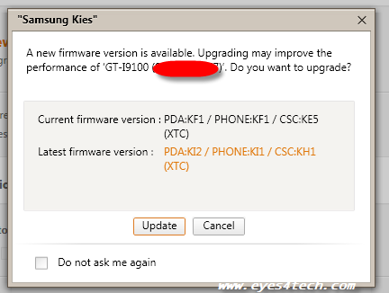 pda kf2 How To Upgrade Samsung Firmware Using Kies
