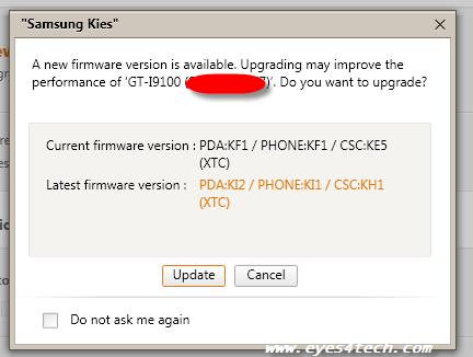 Using Samsung Kies To Update Firmware