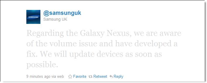 samsung galaxy nexus volume bug