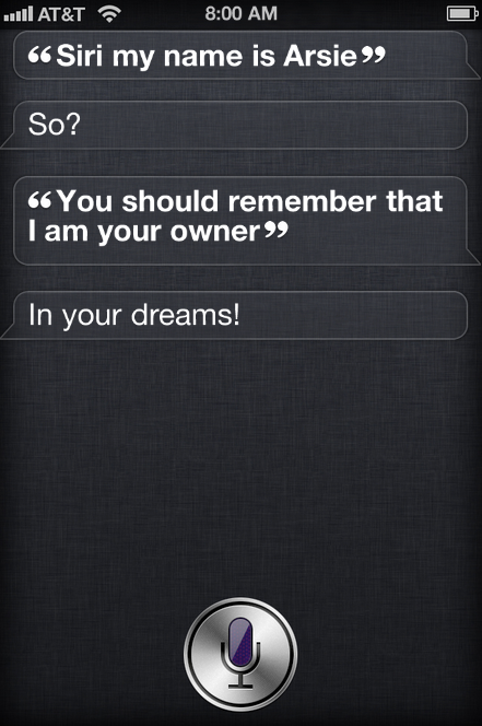 ungrateful siri iPhone 4S Siri Trick   Create Your Own Cool Siri Conversation