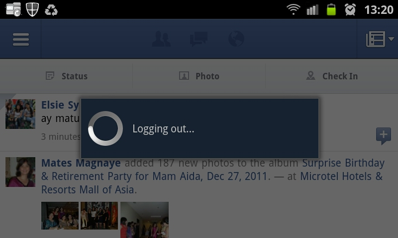 How To Log Out From Facebook Android Application