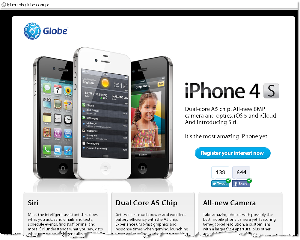 Globe iPhone4S - Learn More