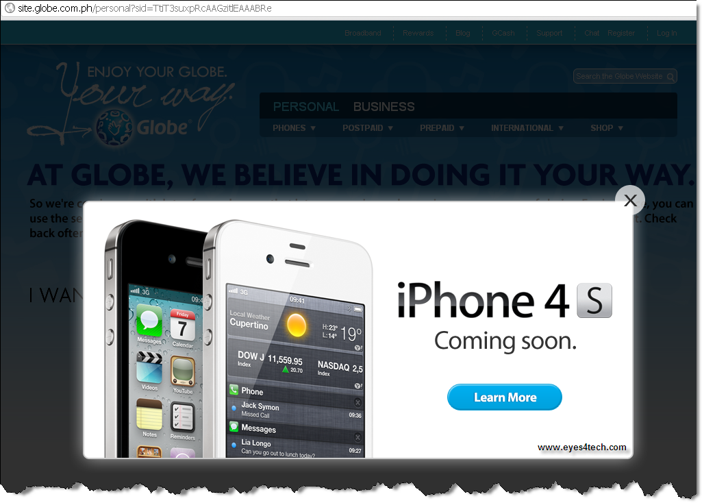 Globe iPhone4S iPhone 4S Philippines Globe Telecom Joins The Bandwagon Online Registration Now Open