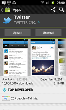 Updating my Twitter app
