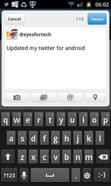 Posting My Tweet