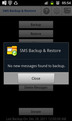 SMS Backup and Restore-Backup Messages