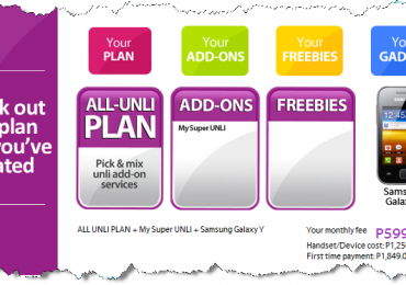 Free Samsung Galaxy Y At Globe SuperUnli Plan 599 Unlimited CALL & TEXT