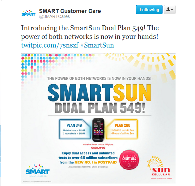 SmartSun Dual Plan 549 SMART Comm Launches SmartSun Dual Plan 549 With FREE Nokia C2 03 Dual SIM Phone