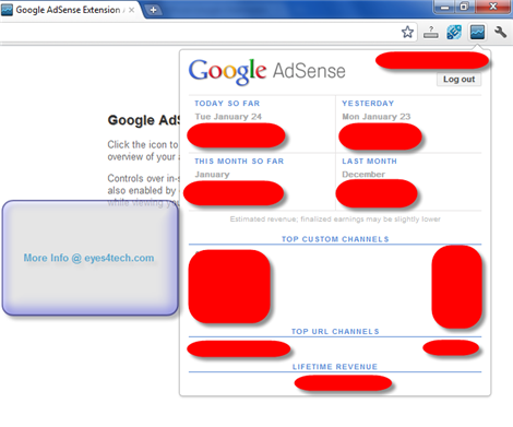 AdSense Publisher Toolbar For Eyes4tech