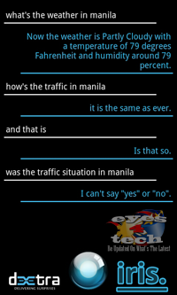 Iris On Traffic [Android App Review] IRIS The Alternative Siri for Android Partners With ChaCha Database
