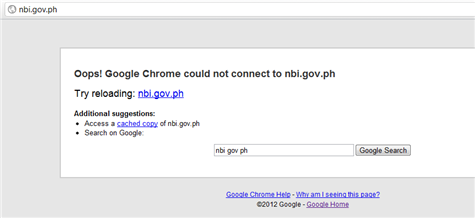 NBI Gov PH Down