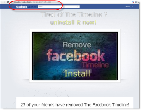 Remove Facebook Timeline Facebook Timeline Removal Or Uninstall Scam On The Loose   BEWARE