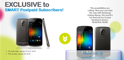 SMART Now Offers Pre-Order Of Samsung Galaxy Nexus For Post Paid Plans