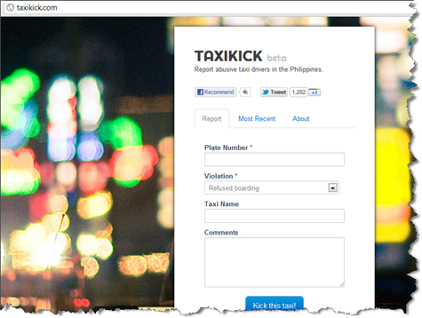 TaxiKick - Report Abusive Taxi Drivers