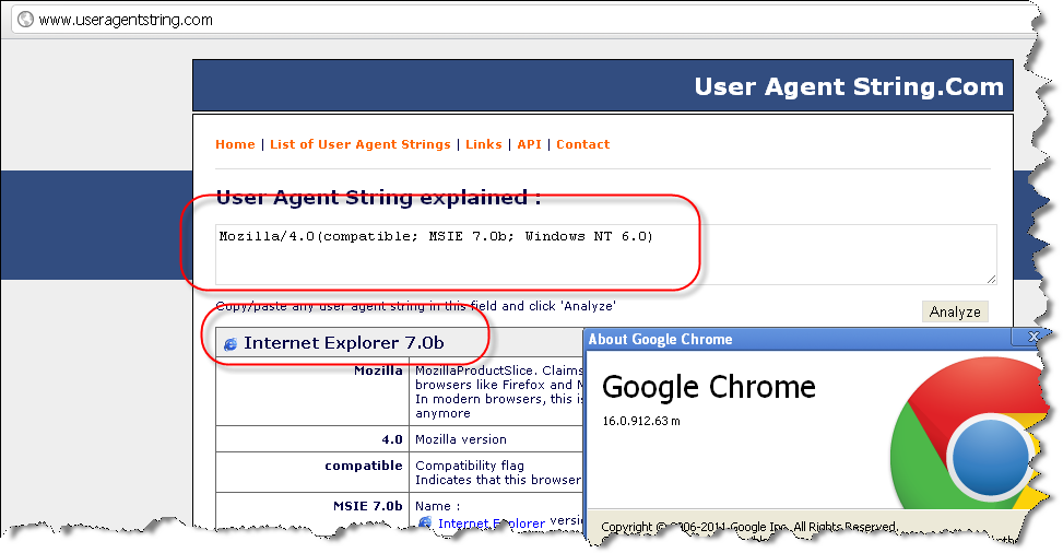 User Agent IE7