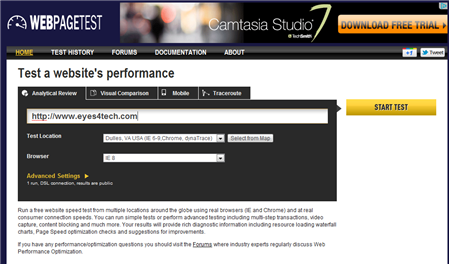 WebPageTest Top 3 Website Speed And Analyzer Helps You Optimize Your Blog