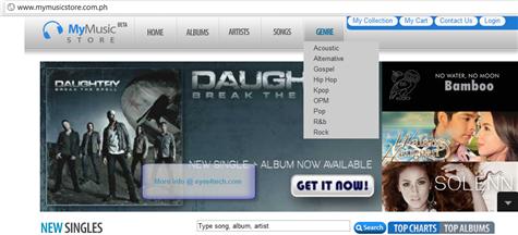 mymusicstore homepage