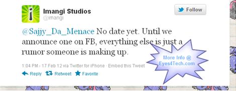 Imangi Studio Announcement On Twitter
