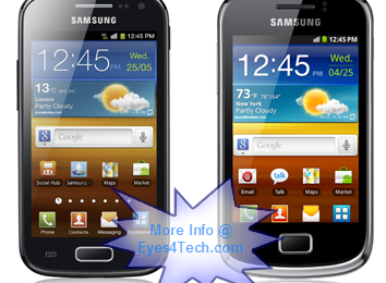 Samsung Unveiled Two New Android Phones – Galaxy ACE 2 and Galaxy mini 2