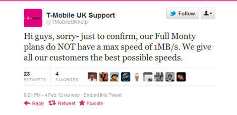 T-Mobile UK Tweets