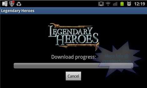 Legendary Heroes Downloading the data