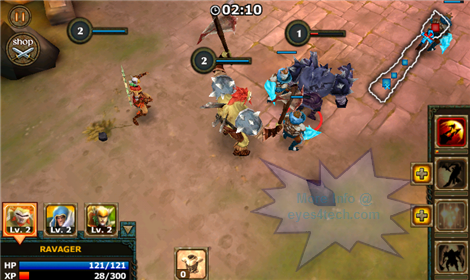 Legendary Heroes For Android Fight Scene