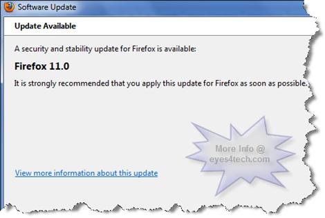 Mozilla Firefox 11 Update