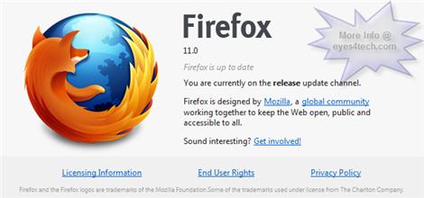 Mozilla Firefox 11