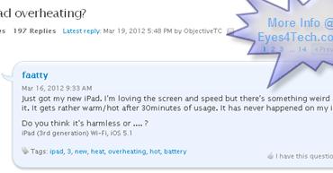 Apple New iPad 3 Overheating Problem Causing Irritation To Users