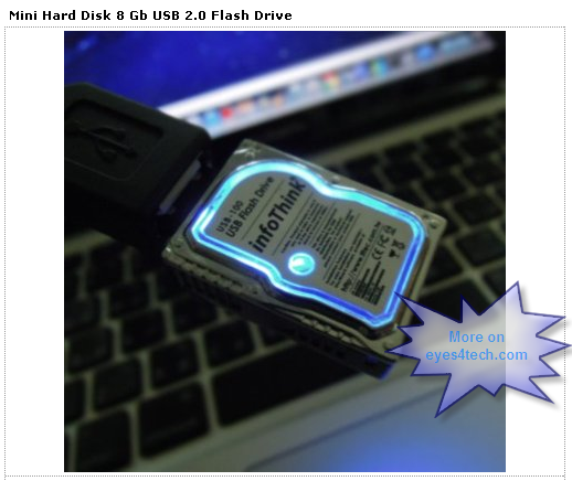 infoThink Smallest Hard Disk Ubiquitous USB Flash Drive Design