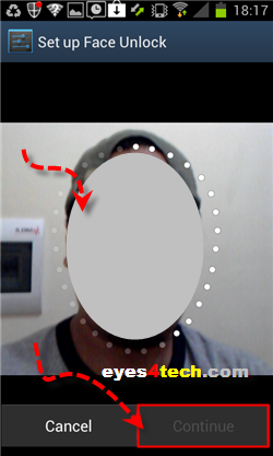 Samsung Galaxy S II Face Unlock Pose