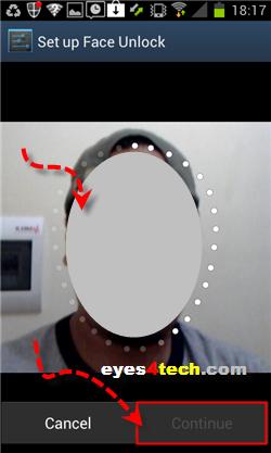 Samsung Galaxy S II Face Unlock Pose