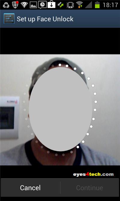 Samsung Galaxy S II Face Unlock