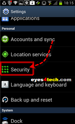 Samsung Galaxy S II Security