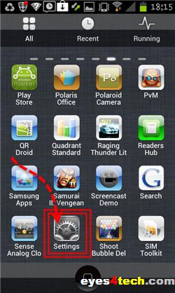 Samsung Galaxy S II Settings