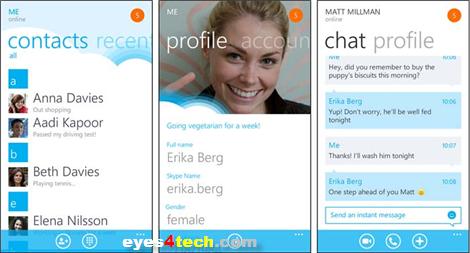 Skype version 1.0 For Windows Phone