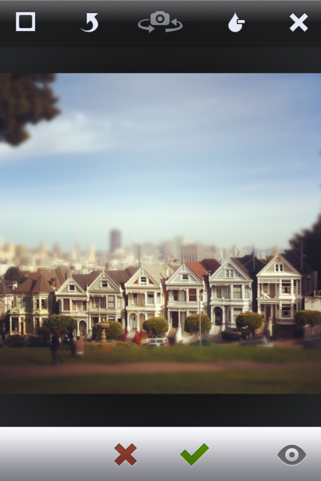 Tilt-shift Instagram
