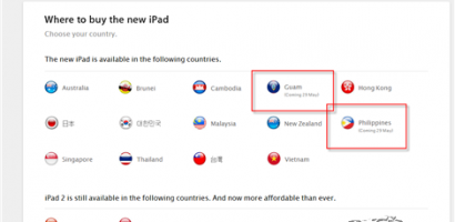 Apple: the New iPad 3 Available in the Philippines And Guam on May 29