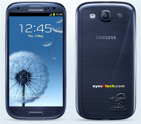 Samsung Galaxy S III Pebble Blue Official Samsung Galaxy S III Released & First Stop Europe   Specs And Features