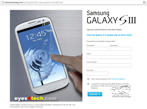 Samsung Galaxy S III US Registration