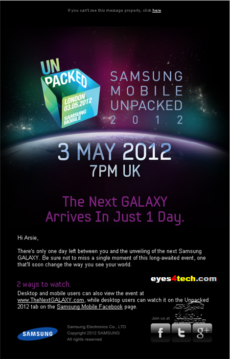 Samsung Mobile Unpacked 2012 03May2012