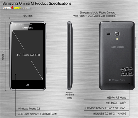 Samsung Omnia M Specifications